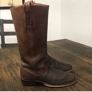 Authentic Frye vintage brown leather boots 8.5